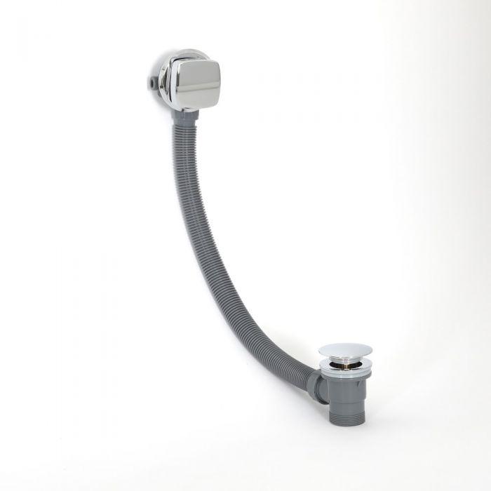 Milano Arvo - Modern Overflow Bath Filler and Waste - Chrome