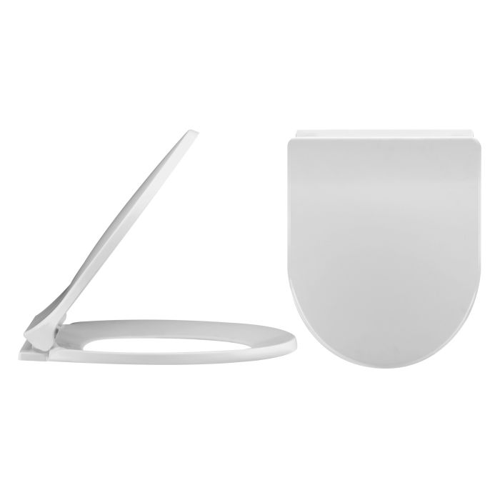 Milano Luxury D- Shape Toilet Seat- top fixing