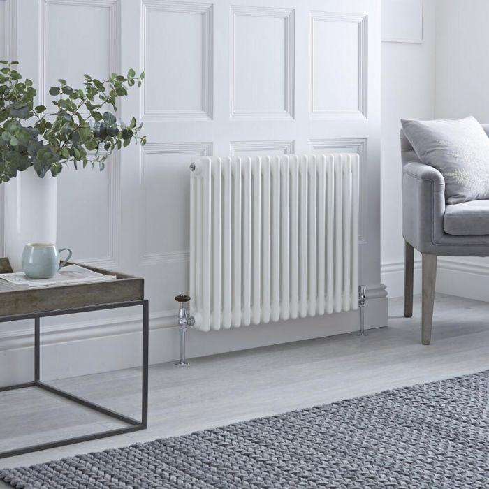 Milano Windsor - White Horizontal Traditional Column Radiator - 600mm x 785mm (Triple Column)