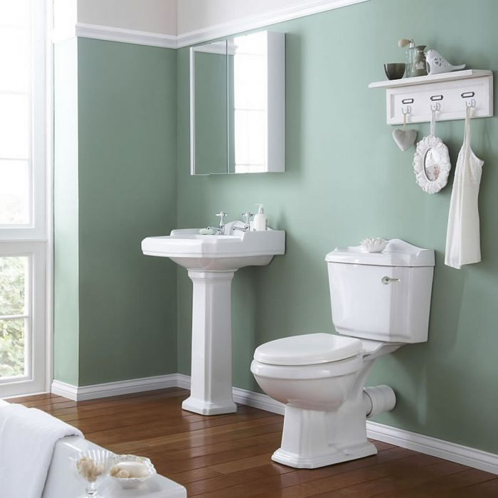 Milano Legend - Traditional Pedestal Basin and Toilet Bathroom Suite