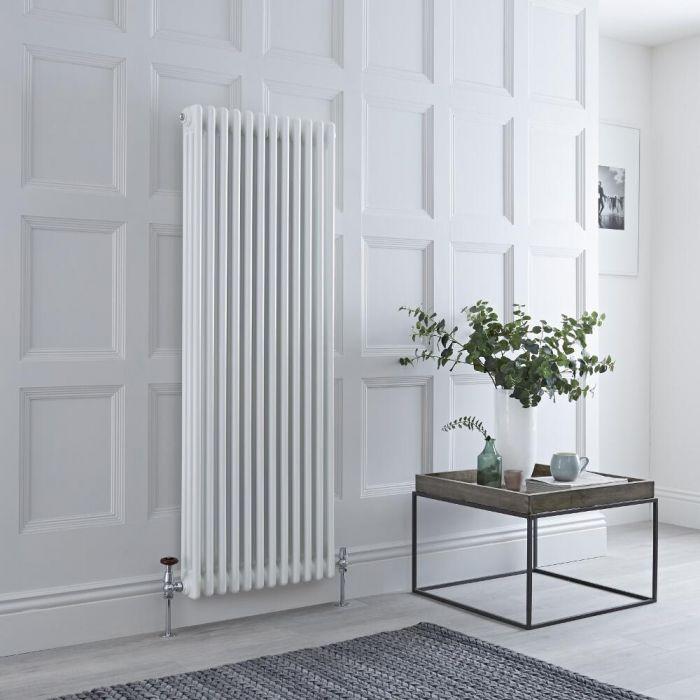 Milano Windsor - White Vertical Traditional Column Radiator - 1500mm x 560mm (Triple Column)