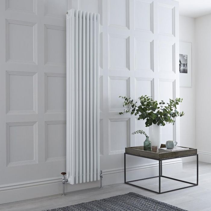 Milano Windsor - White Vertical Traditional Column Radiator - 1800mm x 380mm (Four Column)