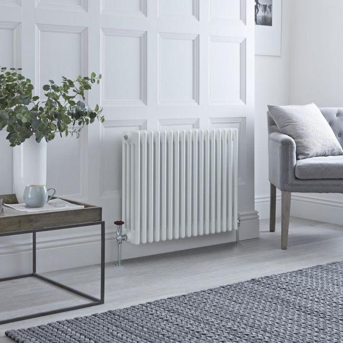 Milano Windsor - White Horizontal Traditional Column Radiator - 600mm x 785mm (Four Column)