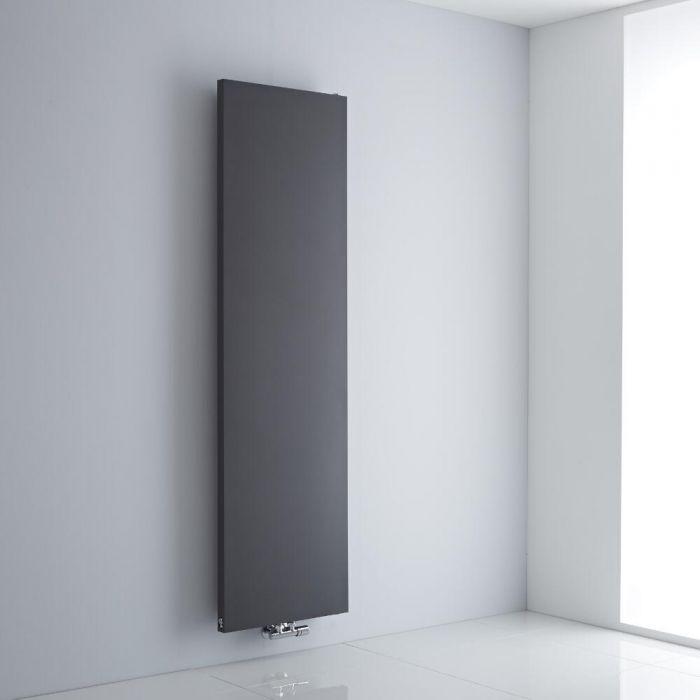 Milano Riso - Anthracite Vertical Designer Radiator - 1800mm x 500mm