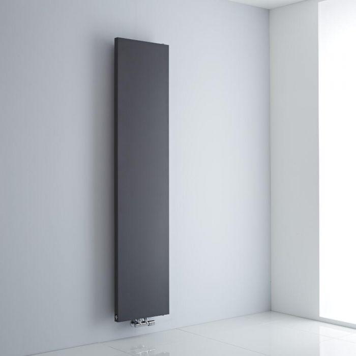 Milano Riso - Anthracite Vertical Designer Radiator - 1820mm x 400mm