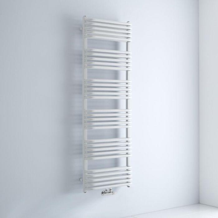 Milano Bow - White D-Bar Heated Towel Rail - 1533mm x 500mm