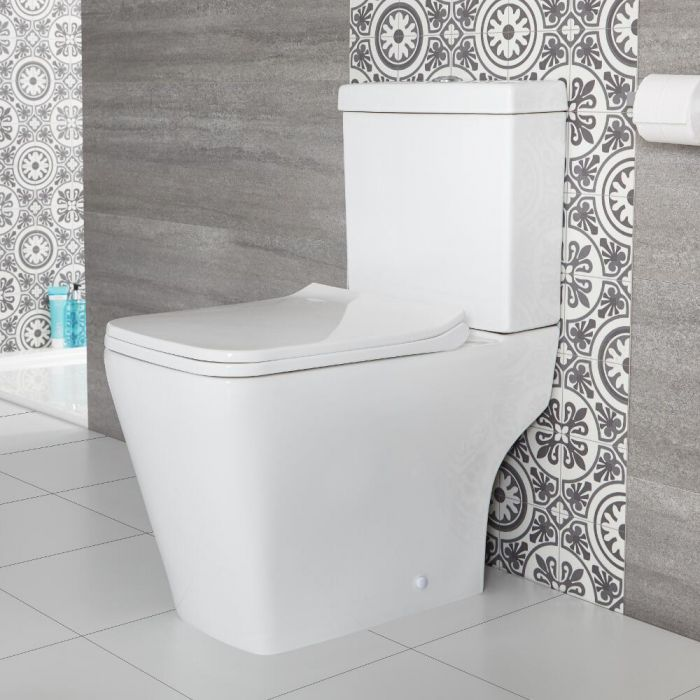 Milano Elswick - Modern Close Coupled Toilet with Soft Close Seat