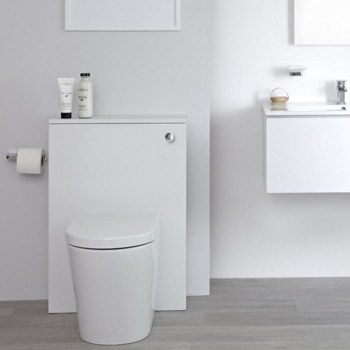 Milano Oxley - White 600mm WC Unit