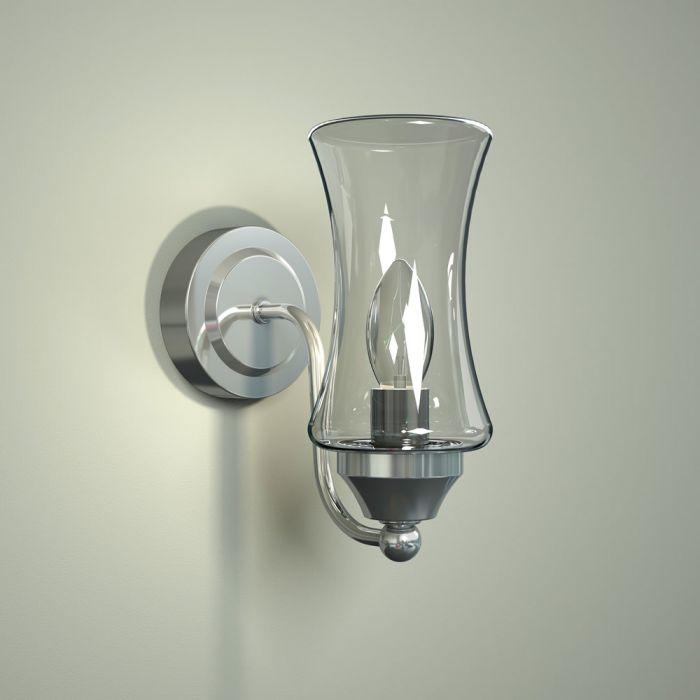 Milano Fischa Curved Bottom Bathroom Wall Light