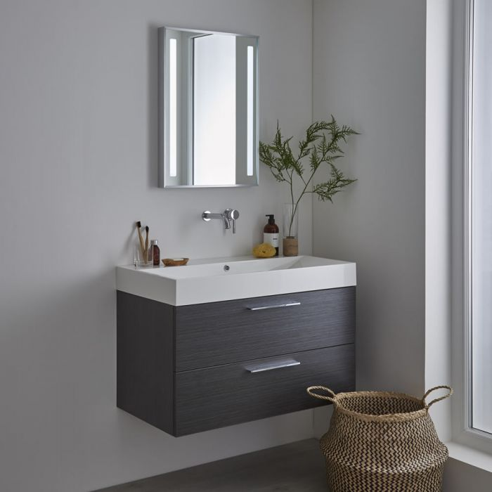 Milano Tagus LED Bathroom Mirror with Sweep Sensor & Demister - 500mm x 700mm