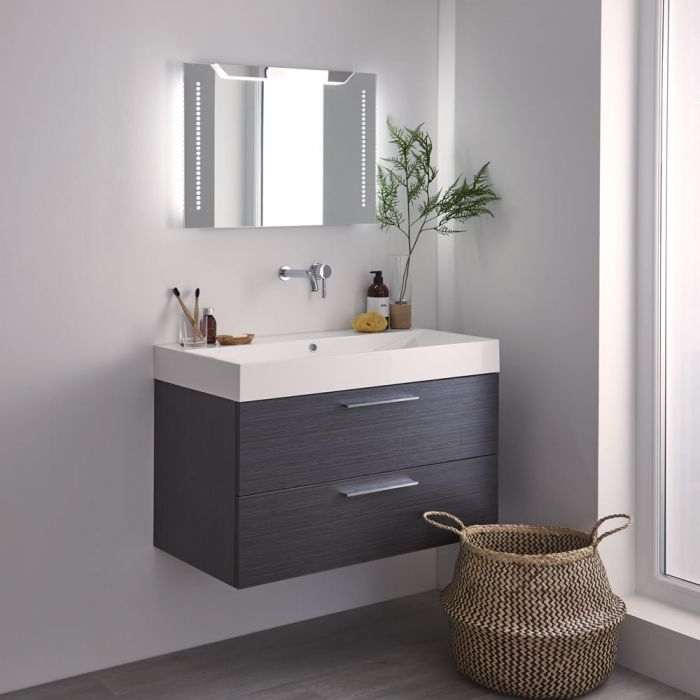 Milano Minho LED Bathroom Mirror with Sweep Sensor & Demister - 700mm x 500mm