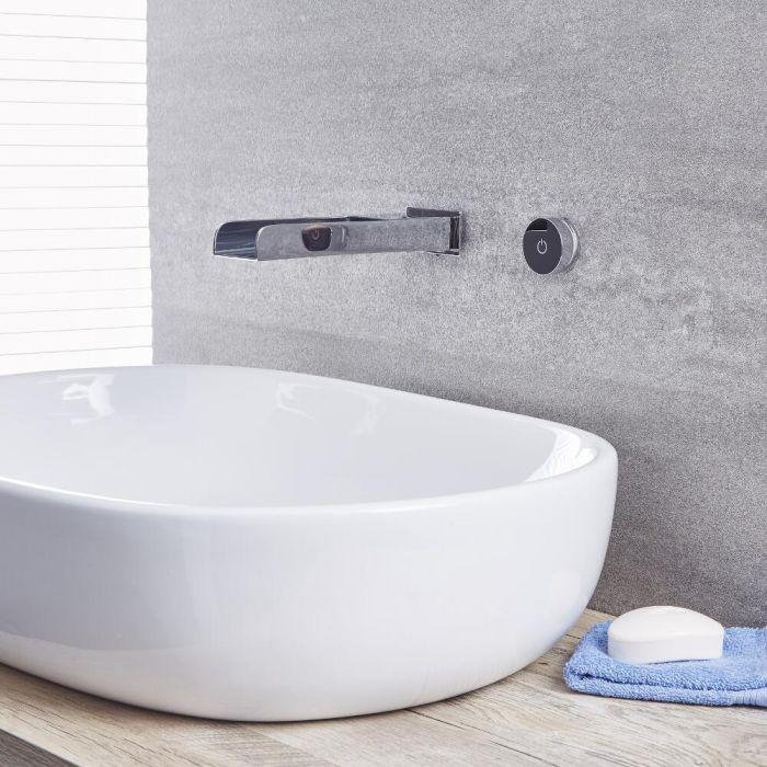 Milano Parade - Digital Wall Mounted Bath or Basin Mixer Tap - Chrome