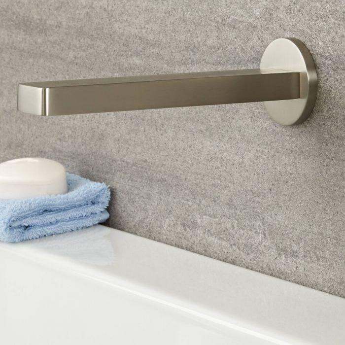 Milano Ashurst - Basin or Bath Spout - Brushed Nickel