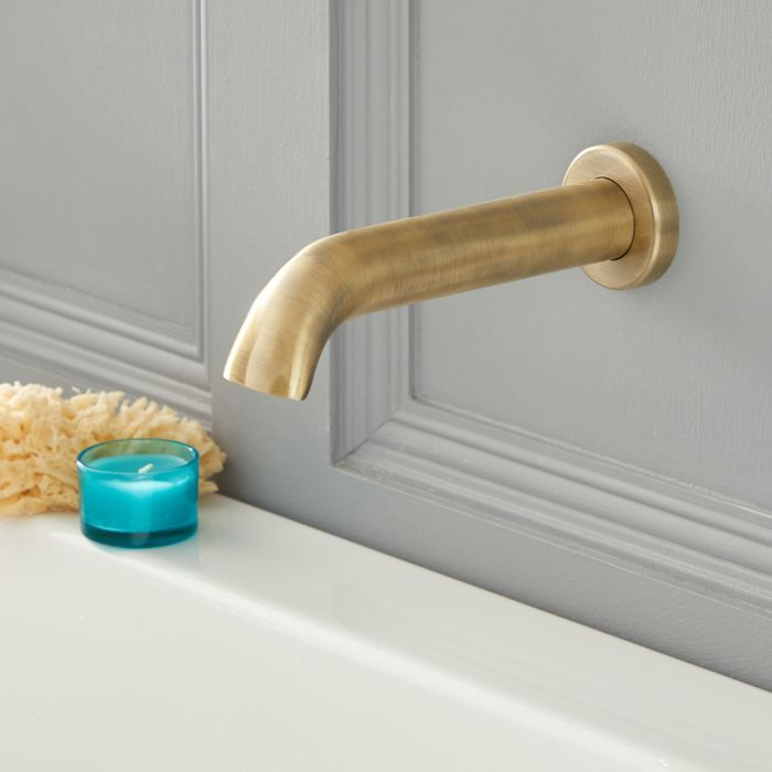 Milano Elizabeth - Traditional Wall Mounted Bath Spout - Brushed Gold