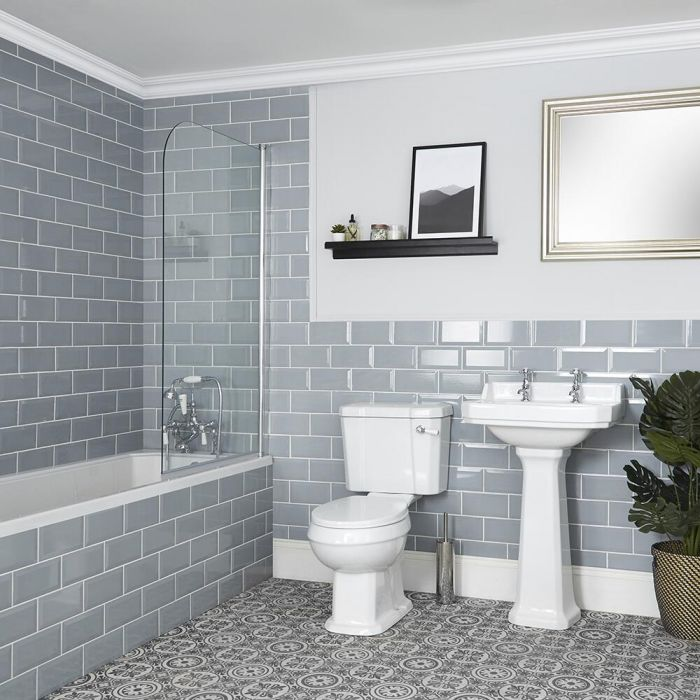 Milano Richmond - Traditional Bathroom Suite with Bath, Toilet and Pedestal Basin
