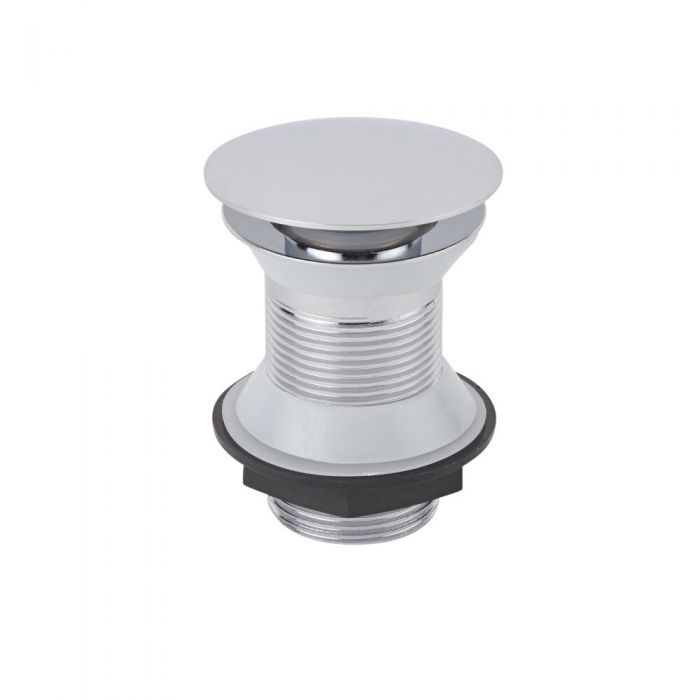 Milano Select - Chrome Unslotted Push Button Basin Waste