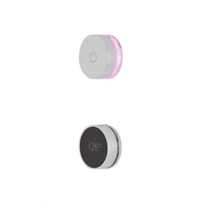 Milano Vis - 3 Outlet Triple Diverter Valve Digital Shower Control System - Chrome