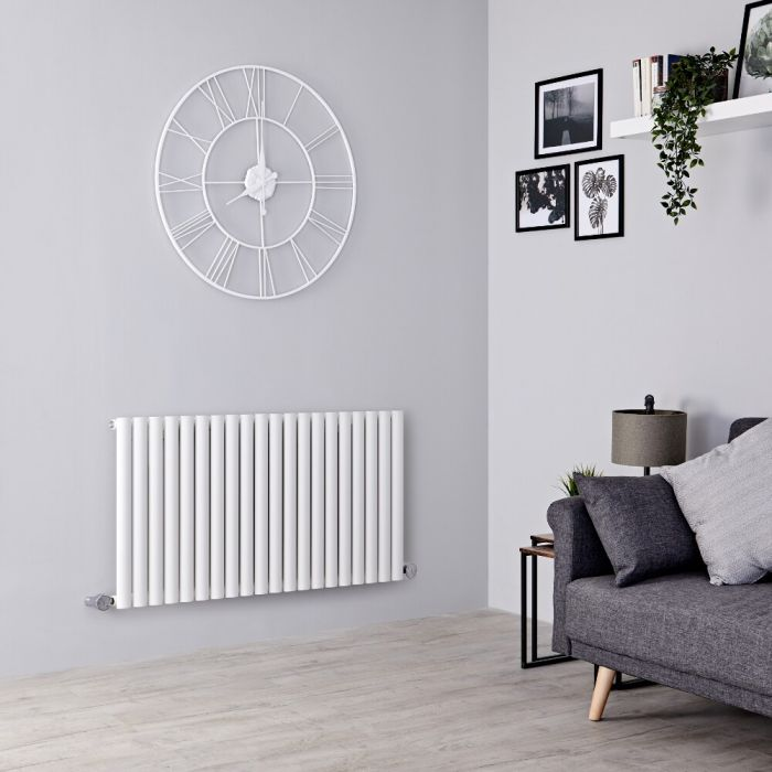 Milano Aruba Electric - White Horizontal Designer Radiator - 635mm x 1180mm