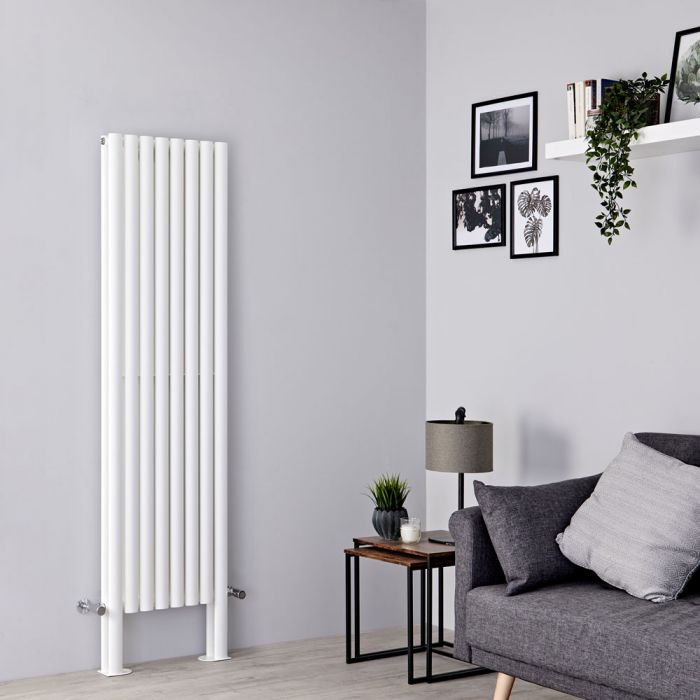 Milano Aruba Plus - White Vertical Designer Radiator - 1800mm x 472mm (Double Panel)