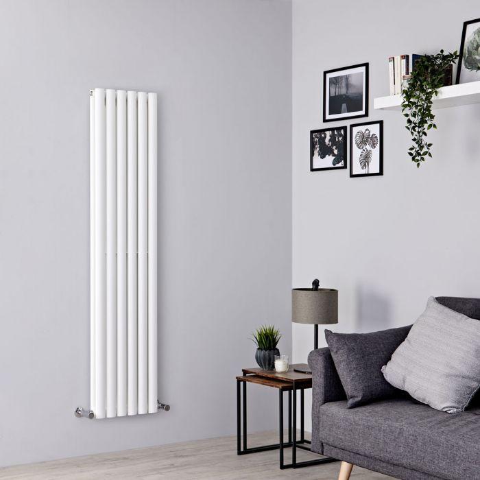 Milano Aruba - White Vertical Designer Radiator - 1600mm x 354mm (Double Panel)