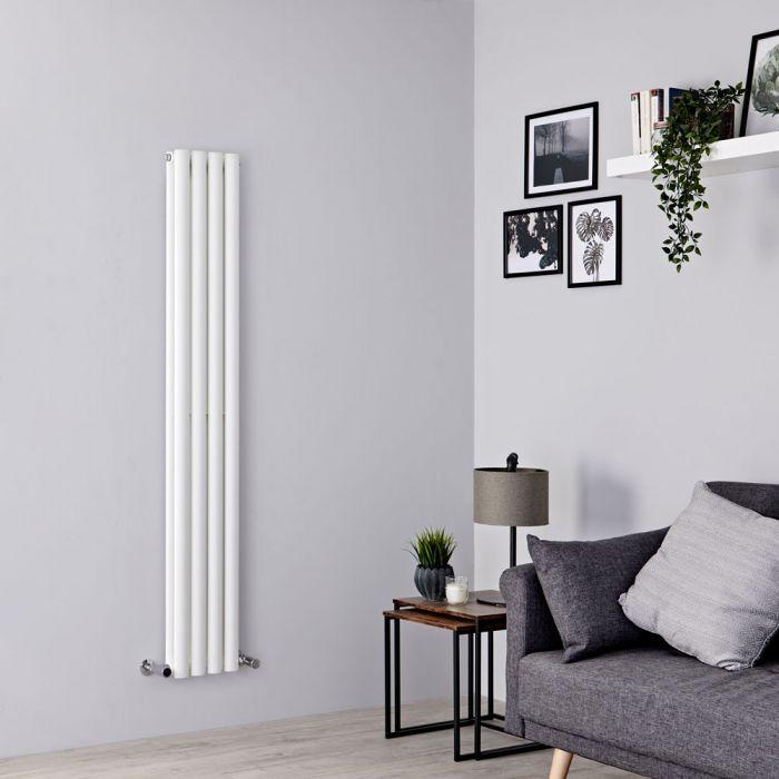 Milano Aruba - White Space-Saving Vertical Designer Radiator - 1600mm x 236mm (Double Panel)
