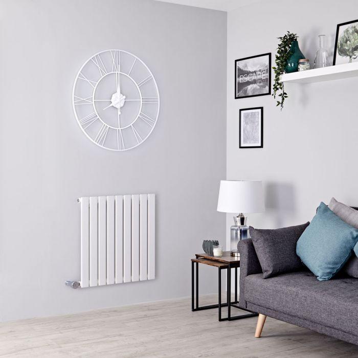 Milano Alpha Electric - White Horizontal Single Designer Radiator - 635mm x 630mm