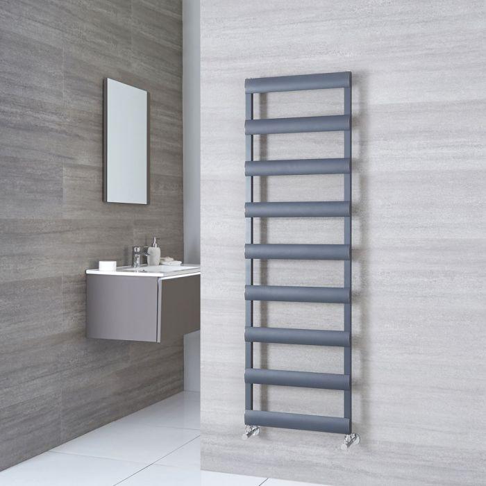 Milano Passo - Aluminium Anthracite Heated Towel Rail - 1590mm x 500mm