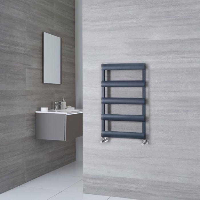 Milano Passo - Aluminium Anthracite Heated Towel Rail - 790mm x 500mm