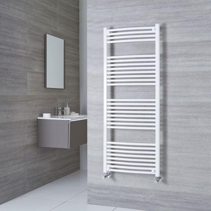 Milano Calder - White Curved Heated Towel Rail - 1500mm x 600mm