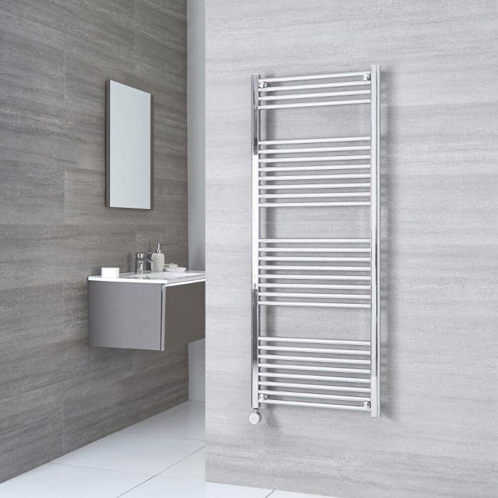 Milano Ribble Electric - Chrome Flat Heated Towel Rail - 1500mm x 600mm