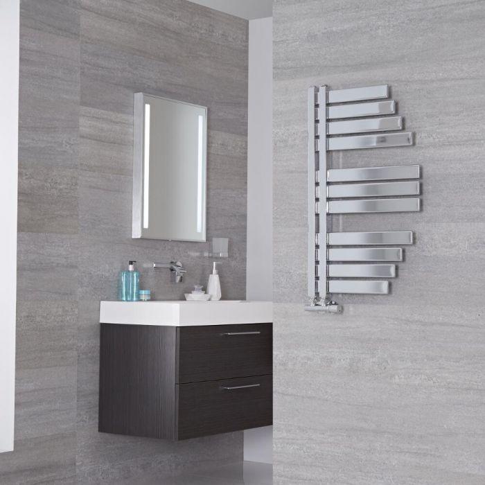 Lazzarini Way Spinnaker - Chrome Designer Heated Towel Rail - 800mm x 463mm