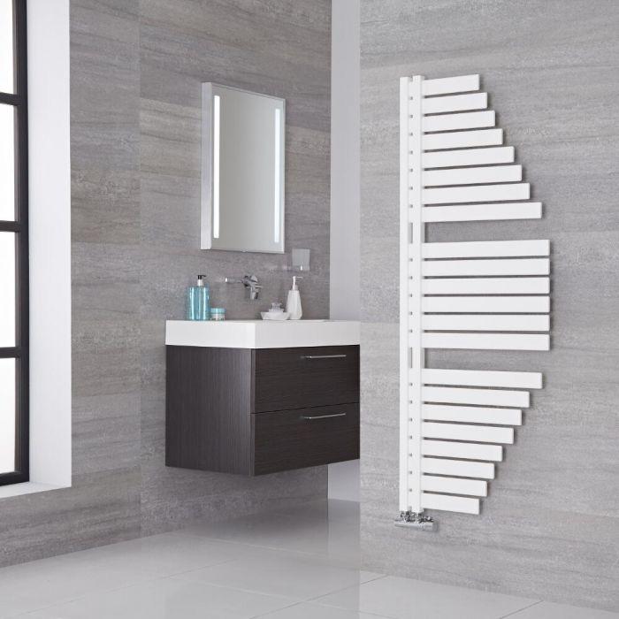 Lazzarini Way Spinnaker - Mineral White Designer Heated Towel Rail - 1460mm x 547mm