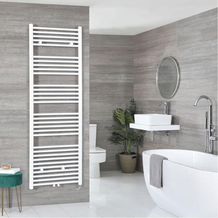 Milano Neva Electric - White Heated Towel Rail - 1785mm x 600mm