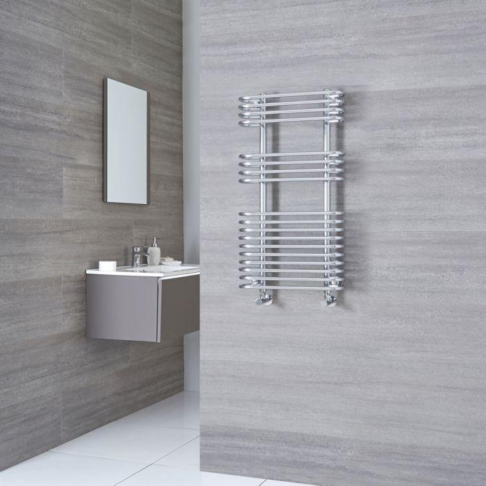Kudox Voco - Chrome Designer Heated Towel Rail - 900mm x 500mm