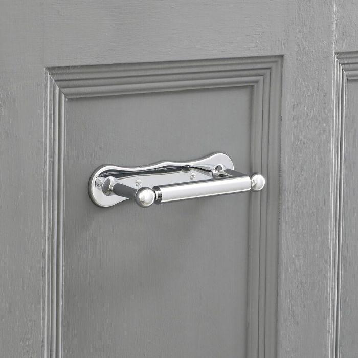 Milano Elizabeth - Luxury Toilet Roll Holder - Chrome