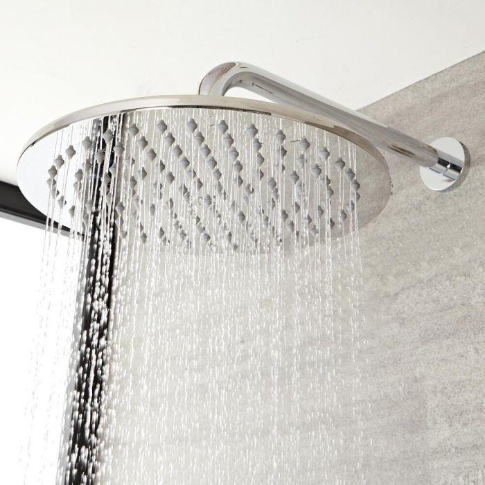 Milano Mirage - Modern Round 200mm Stainless Steel Shower Head - Chrome