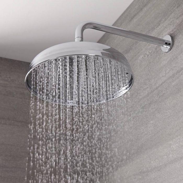 Milano Elizabeth - 300mm Traditional Apron Shower Head - Chrome