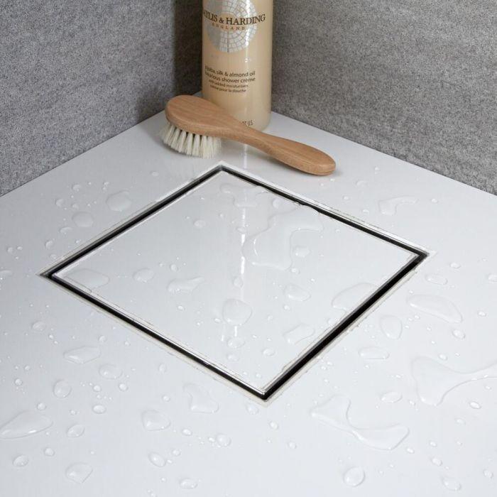 Milano - 200mm Square Tile Insert Stainless Steel Shower Drain