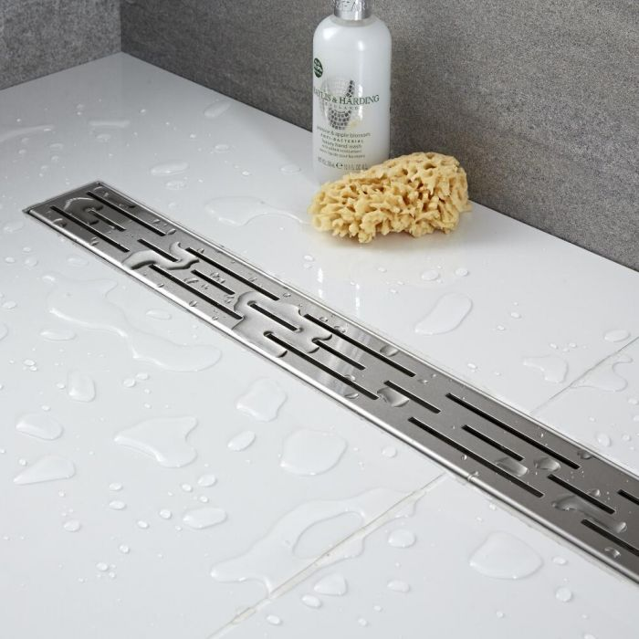 Milano - 800mm Linear Stainless Steel Shower Drain with Grate