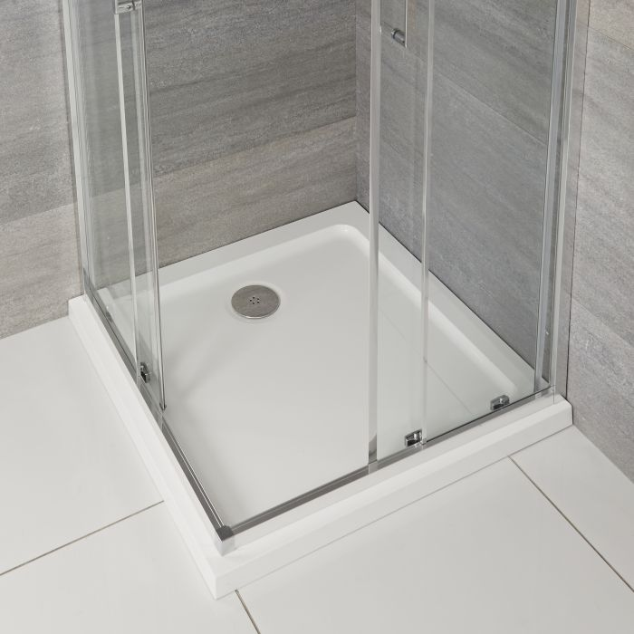 Milano Lithic - Low Profile Square Shower Tray - Choice of Sizes