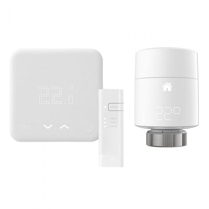 Tado - Smart Thermostat Starter Kit (v3) & Smart Radiator Thermostat (Vertical)
