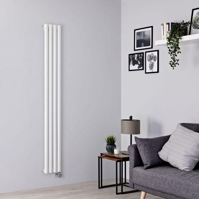 Milano Aruba Slim Electric - White Vertical Designer Radiator - 1780mm x 236mm