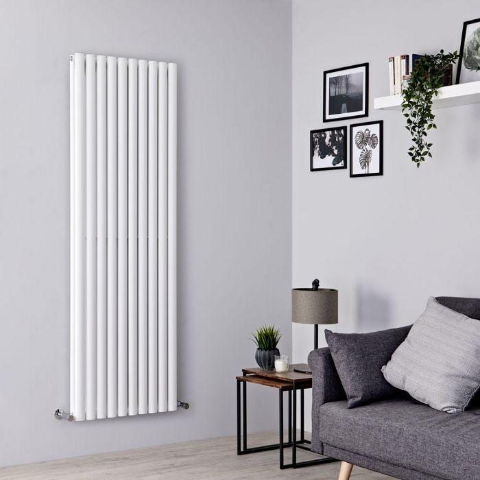 Milano Aruba - White Vertical Designer Radiator - 1780mm x 590mm (Double Panel)