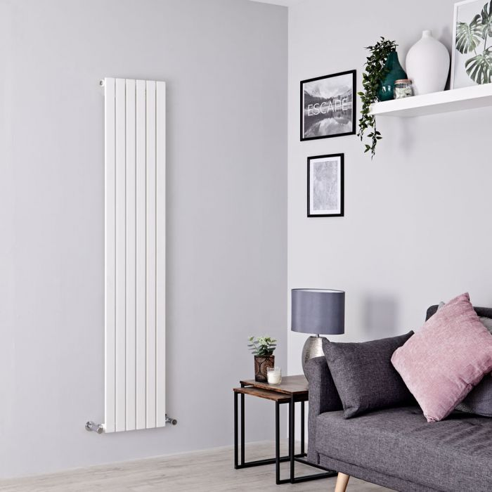 Milano Capri - White Flat Panel Vertical Designer Radiator - 1780mm x 354mm