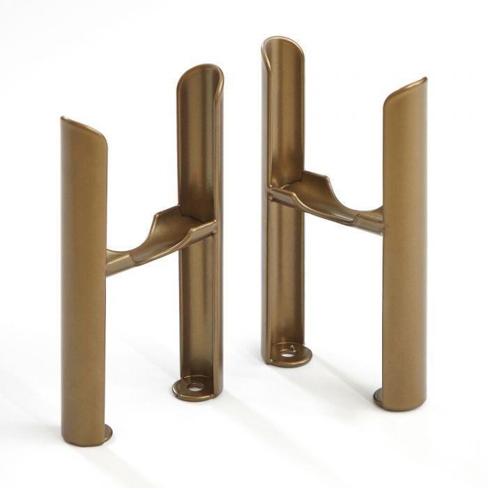 Milano Windsor - Metallic Bronze Floor-Mounting Feet for Traditional 3 Column Windsor Radiators