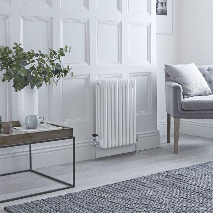 Milano Windsor - White Horizontal Traditional Column Radiator - 600mm x 425mm (Four Column)
