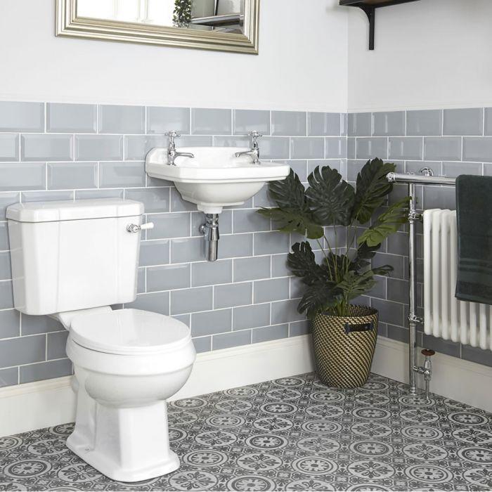 Milano Richmond - Traditional Close Coupled Toilet and Wall Hung Basin Set