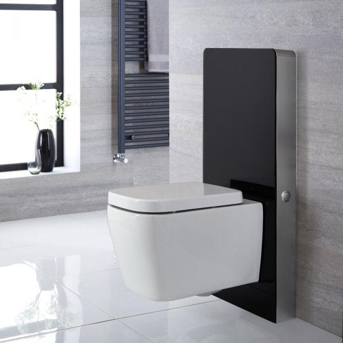 Milano Arca - Black 500mm Complete WC Unit with Longton Toilet