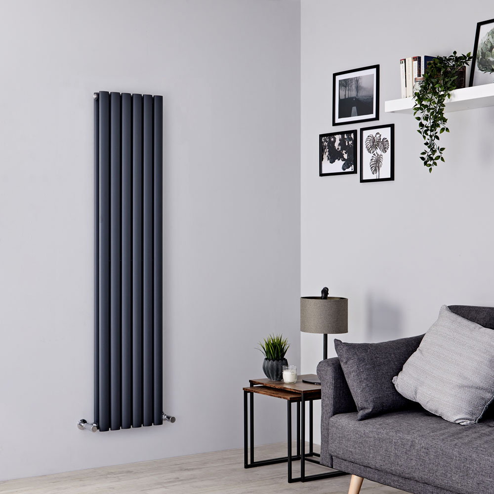 Milano Aruba - Anthracite Vertical Designer Radiator - 1600mm x 354mm (Double Panel)