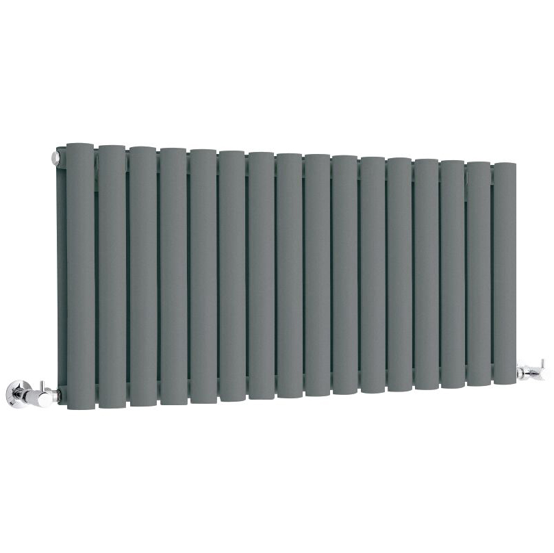 Milano Aruba - Anthracite Horizontal Designer Radiator - 400mm x 1000mm (Double Panel)
